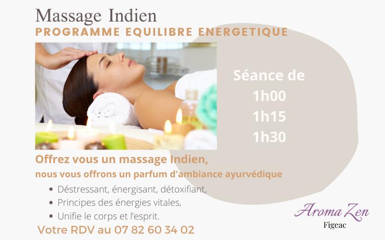 Le massage Indien – Ayurvédique – offre de Mars 2021